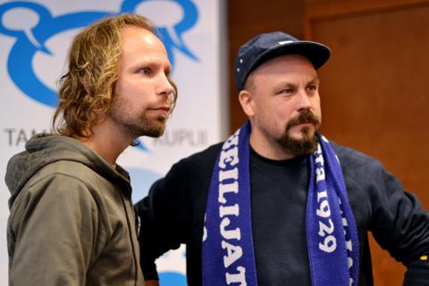 Tunna Milonoff ja Riku Rantala toimivat Sarjakuva-Finlandia-kilpailun päätuomareina.